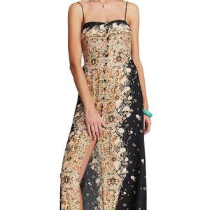 """Free People """"Morning Song"""" Print Maxi Woven Dress"""